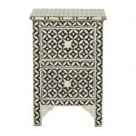 Bone Inlay Nightstand Black