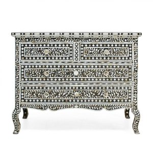 Mother of Pearl Inlay Floral Chest of drawers