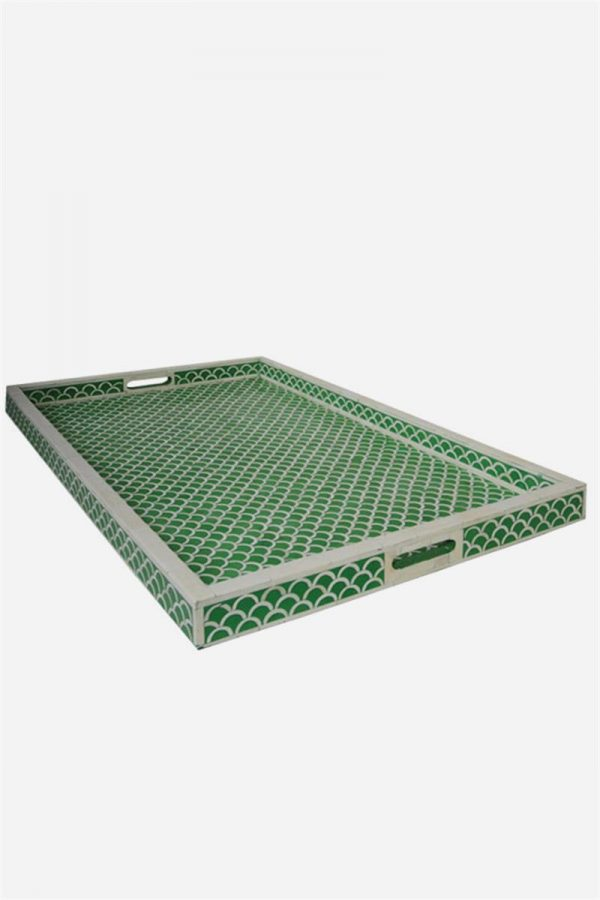 Fish Scale Design Tray in Green Color