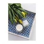 Fish Scale Design Tray in Dark Blue Color