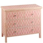 Bone Inlay Chest of Four Drawers Pink