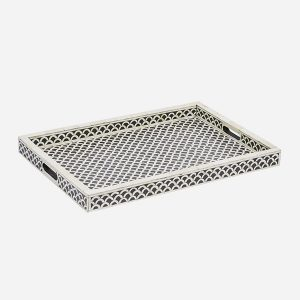 Fish Scale Design Tray in Black Color