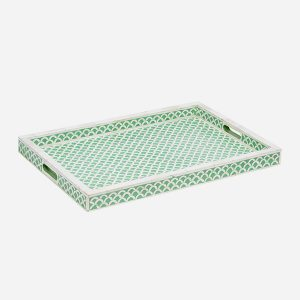 Fish Scale Design Tray in Pea Green Color