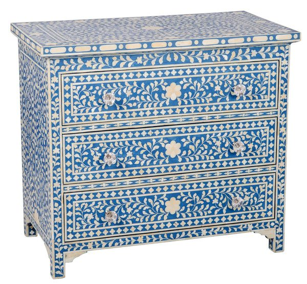 Bone Inlay chest Chest Of drawers / Dresser