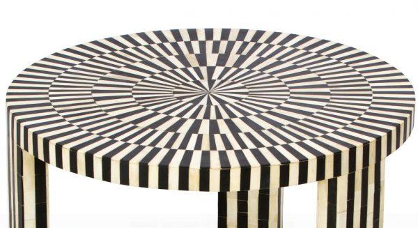 Bone Inlay Coffee Table Black