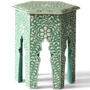 Hexagonal Stool in Green Color