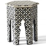 Hexagonal Stool in Black Color