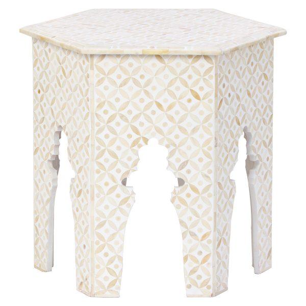 Hexagonal Stool in White Color