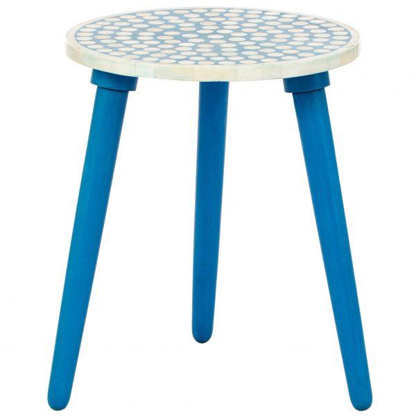 Polka Dot Stool in Blue Color