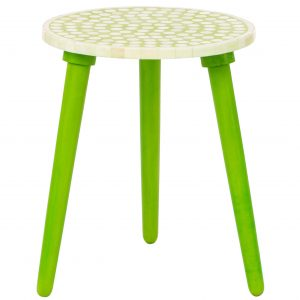 Polka Dot Stool in Green Color