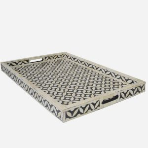 Geometric Star Design Tray in Black Color