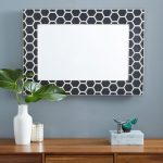 Honeycomb Mirror Frame in Black Color
