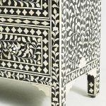 Anthropologie Bone Inlay Chest of Drawers / chest Black