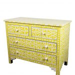 Bone Inlay Chest of Four Drawers