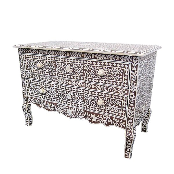 Bone Inlay French Dresser Brown