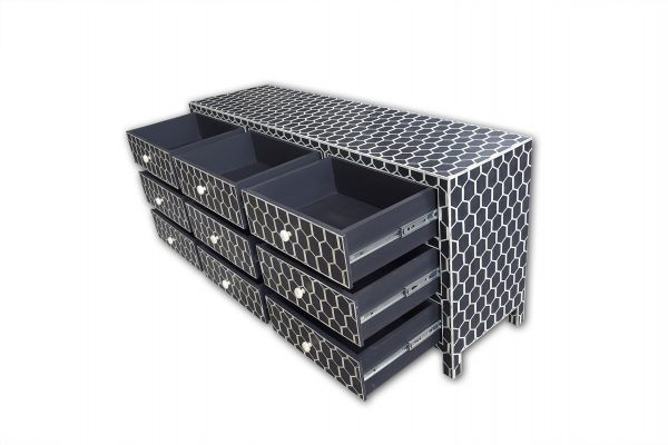 Honeycomb Design Chest in Black Color