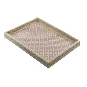 Geometric Star Design Tray in Purple Color