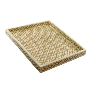 Geometric Star Design Tray in Mustard Color