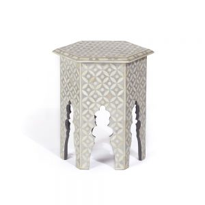 Hexagonal Stool in Grey Color