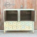 Antique Wooden Blue Sideboard