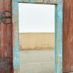 Antique wooden mirror frame