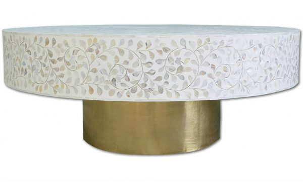 Mother of pearl coffee table round