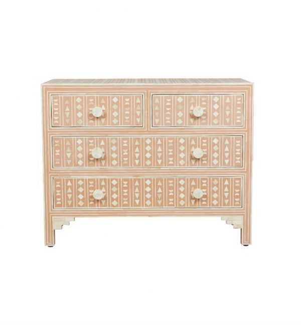 Bone Inlay Dresser Pink