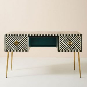 Bone Inlay Two Drawers Optical Inlay Desk