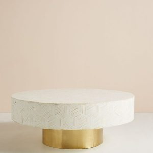 Bone Inlay Targua Optical Coffee Table