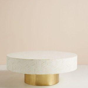 Bone Inlay Targua Optical Coffee Table