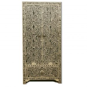Bone Inlay Floral Design Wardrobe