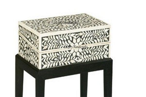 Bone Inlay Floral Box