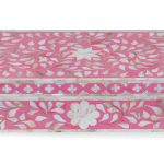 mother of pearl inlay box floral design in STRAWBERRY color