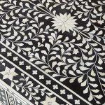 Bone Inlay Coffee table Floral design Black Color