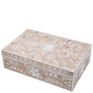 mother of pearl inlay floral design box